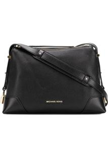 Michael Michael Kors Pebbled Shoulder Bag - Preto