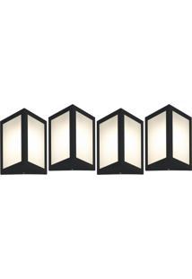 Arandela Triangular Preto Kit Com 4 Casah - Preto - Dafiti