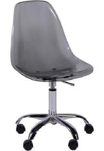 Cadeira Eames Com Rodízios Fumê