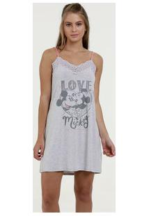 Camisola Feminina Estampa Mickey E Minnie Disney