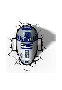Luminária De Parede - 3D - Disney - Star Wars - Episódio Vii - R2D2 - Beek Geeks