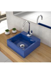 Cuba De Apoio P/ Banheiro Compace Veneza Q395W Quadrada Azul Escuro