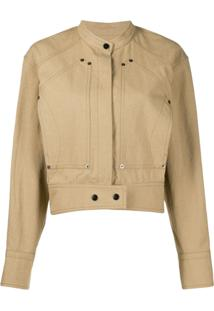 Isabel Marant Cropped Biker Jacket - Marrom
