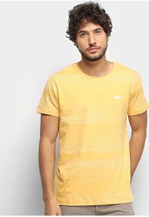 Camiseta Gajang Estonada Masculina - Masculino-Amarelo