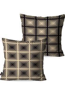 5b36473d7 Dafiti. Kit Com 2 Capas Para Almofadas Pump Up Decorativas Bege Geométrico  45x45cm