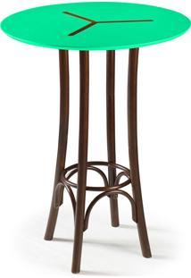 Mesa Bistrô Opzione 105 Cm 428 Imbuia/Verde Anis - Maxima