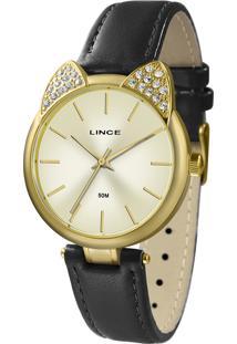 Relógio Analógico Lince Feminino - Lrc621L C1Px Dourado