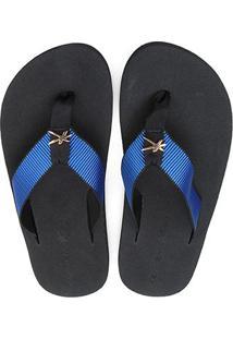 Chinelo Kenner One Black Masculino - Masculino-Preto+Azul