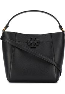 Tory Burch Bolsa Bucket Mcgraw Pequena - Preto