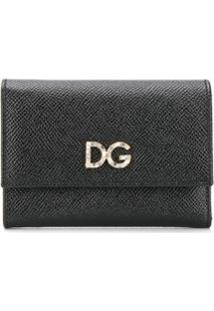 Dolce & Gabbana Carteira Continental Com Aplicação De Cristais - Preto