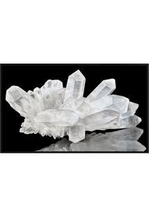 Quadro Decorativo Cristal- Preto & Branco- 70X50Cm