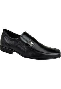 Sapato Social Couro Cazzac Elegant Masculino - Masculino-Preto