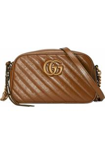 Gucci Bolsa Transversal Gg Marmont - Marrom