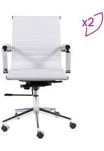 Or Design Jogo De Cadeiras Office Eames Esteirinha Branco & Prateado 2