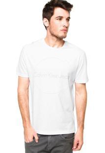 Camiseta Manga Curta Calvin Klein Jeans Circle Branca