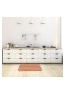 Tapete De Cozinha Mdecore Chevron Colorido 40X60Cm