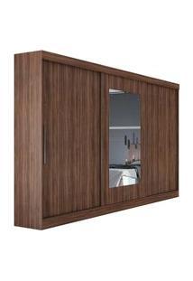 Guarda Roupa Casal C/ Espelho 3 Portas 4 Gavetas Montebello Móveis Lopas Marrom