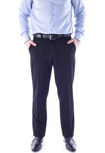 Calça 1491 Social Preto Traymon Modelagem Regular
