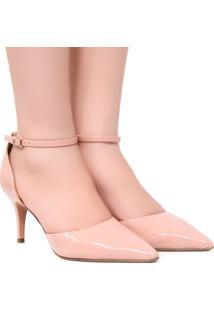 Sapato Zariff Shoes Scarpin Noivas Fivela Nude