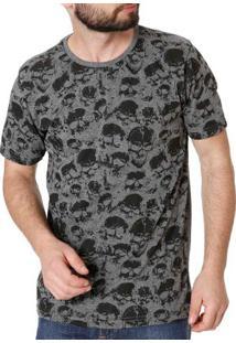 Camiseta Manga Curta Masculina Local Cinza
