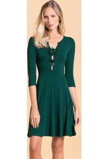 Vestido verde musgo rodado
