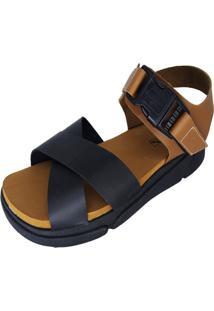 Sandália Plataforma Arrive Fashion Ivonete Preto