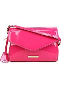 Bolsa Loucos & Santos Flap Verniz Soft Feminina - Feminino-Pink