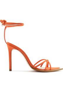 Sandália Strings Lace-Up 944 Orange   Schutz
