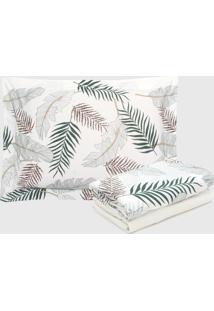 Jogo De Cama Solteiro Naturalle Fashion 3Pã§S Jungle Malha Penteada Off-White - Off White - Dafiti
