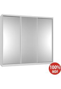 Guarda Roupa 3 Portas Com 3 Espelhos 100% Mdf 5393E3 Branco - Foscarini