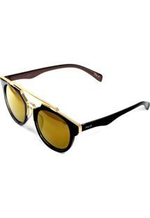 Óculos De Sol Drop Me Redondo Premium Lentes Bronze