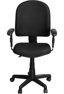 Cadeira Pethiflex Pegbd Giratória Couro Preto