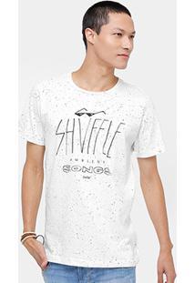 Camiseta Redley Botonê Shyffle Masculina - Masculino-Off White