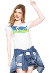 Camiseta Snoopy Brasil Branca