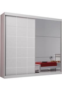 Guarda-Roupa Top Luxo Com Espelho - 100% Mdf - Branco