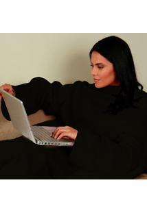 Cobertor Com Mangas Preto - Zona Criativa