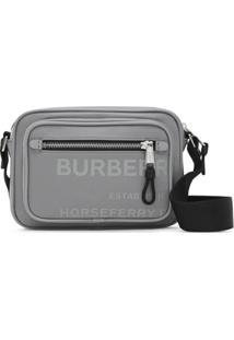 Burberry Bolsa Transversal Com Estampa Horseferry - Cinza