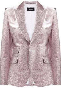 Dsquared2 Blazer Abotoamento Simples Com Glitter - Rosa