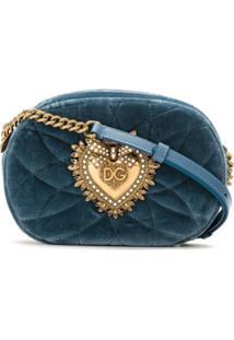 Dolce & Gabbana Bolsa Transversal Devotion - Azul