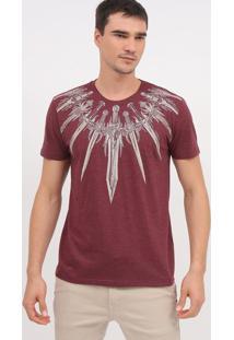 """Camiseta """"Espadas""""- Bordã´ & Bege Claro- Tritonforum"""