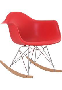 Cadeira De Balanço Com Braço Pp Eiffel -Rivatti - Vermelho