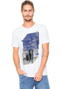 Camiseta Hering No Music No Life Branca