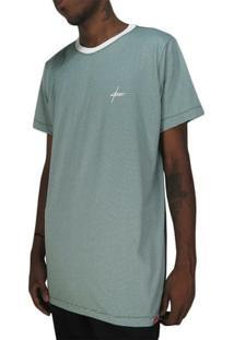 Camiseta Outlawz Long Line Signature Stripes-Verde - Masculino