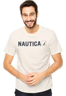 Camiseta Nautica Classic Fit Bege