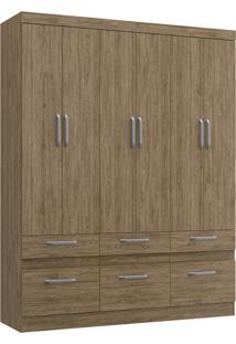 Guarda Roupa Casal Decibal Rp3660 Citrino 6 Portas 6 Gavetas Wood