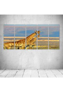 Quadro Decorativo - Giraffes - Composto De 5 Quadros
