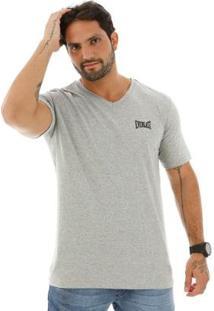 Camiseta Algodão Básica - Masculino-Mescla