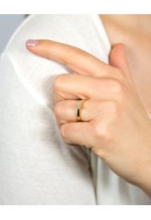 Anel Solitário De Ouro 18K Diamante 15 Pontos Desire