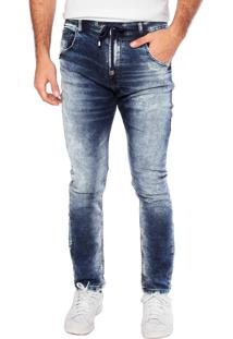 Calça Jeans Ellus Skinny Plaquinha Azul