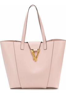 Versace Bolsa Tote Virtus - Rosa